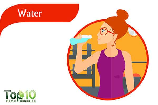 drink more water to soften stools