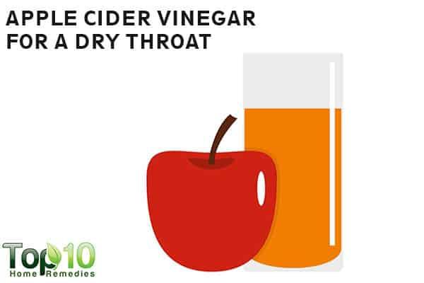 apple cider vinegar for dry throat