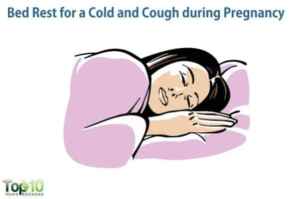 take rest for cold and cough during pregnancy