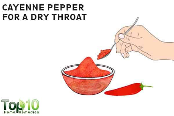 cayenne pepper to treat dry throat