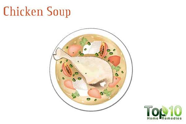 chicken soup for sinus drainage