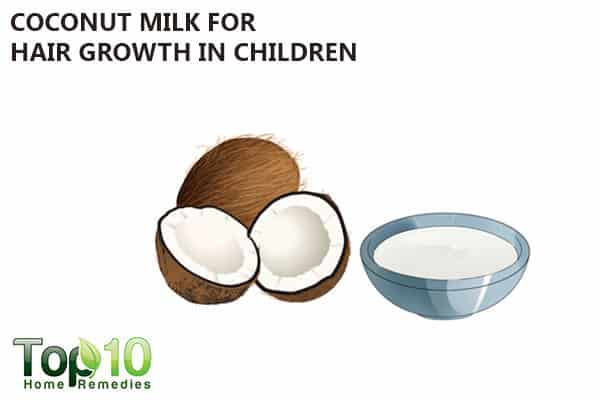 coconut milk for hair growth in kids