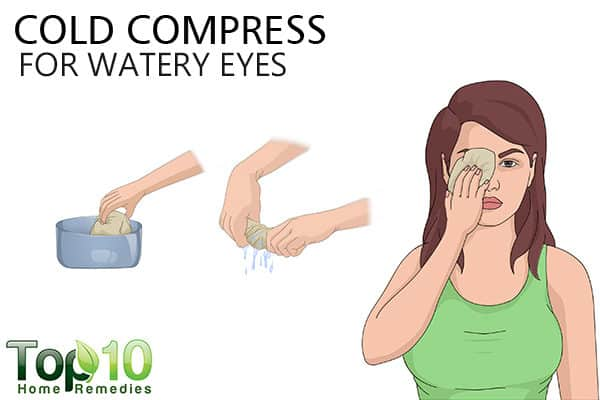 cold compress for watery eyes