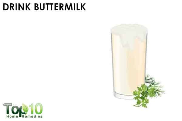 drink buttermilk to treat acidity during pregnancy