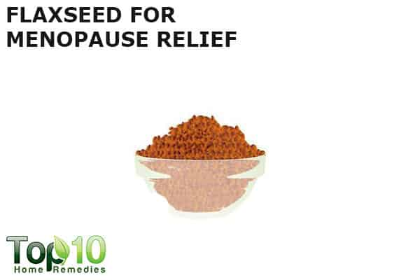 flaxseed to relieve menopausal symptoms