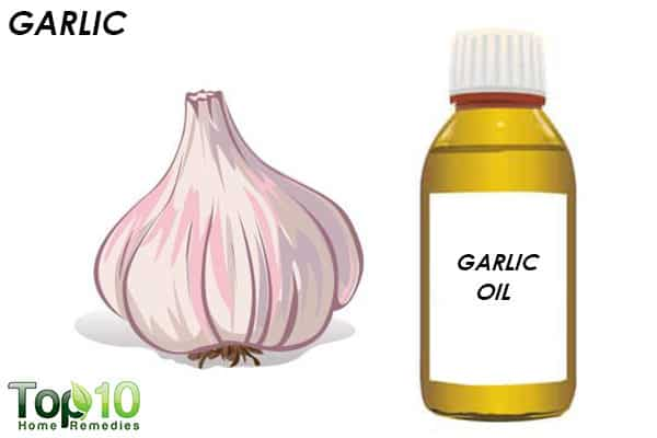 garlic oil for a head cold