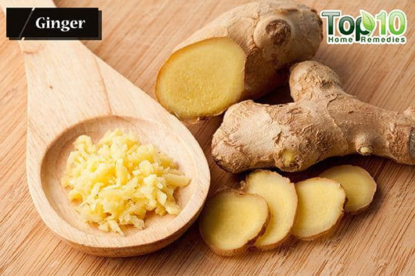 ginger to ease dry cough