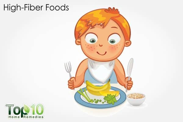 high fiber foods to treat child constipation