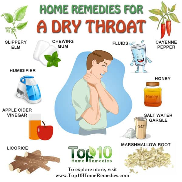 home remedies for a dry throat