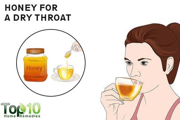 honey to reduce dry throat