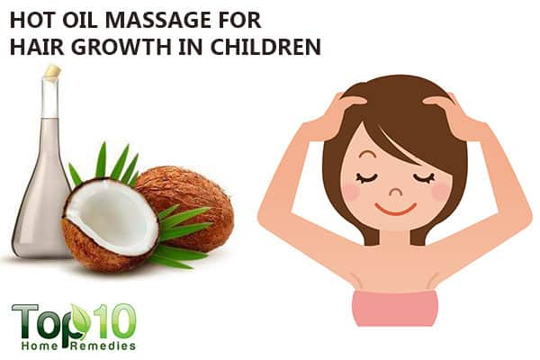hot oil massage for hair growth in kids
