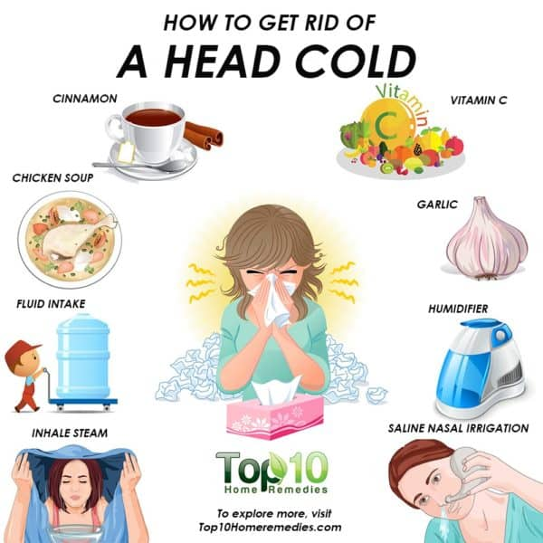 how to get rid of a head cold