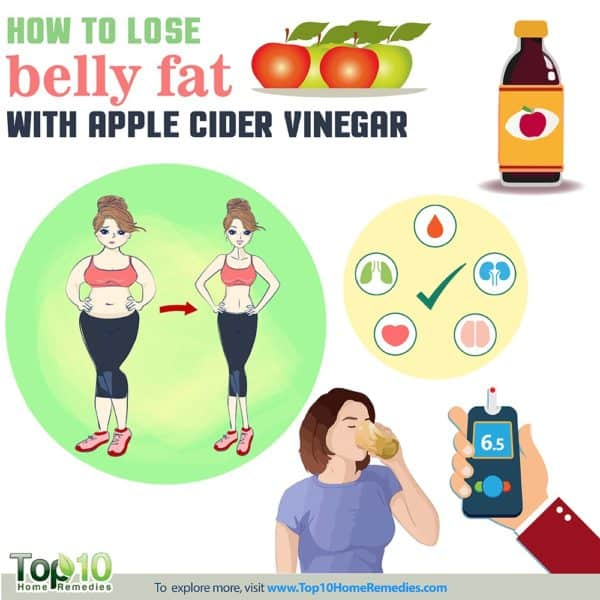 how to lose belly fat with apple cider vinegar