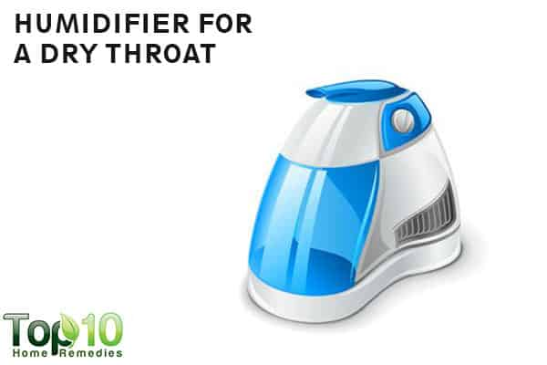 humidifier to soothe dry throat