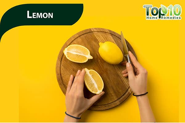 lemons to reduce dark upper lip