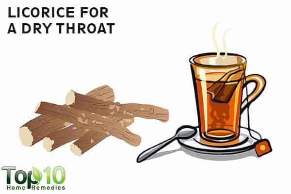 licorice relieves dry throat