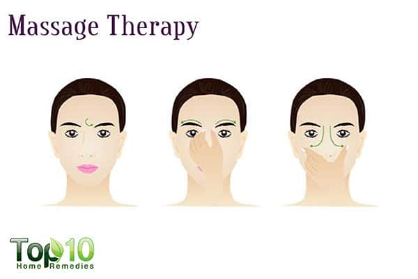 massage therapy for sinus drainage