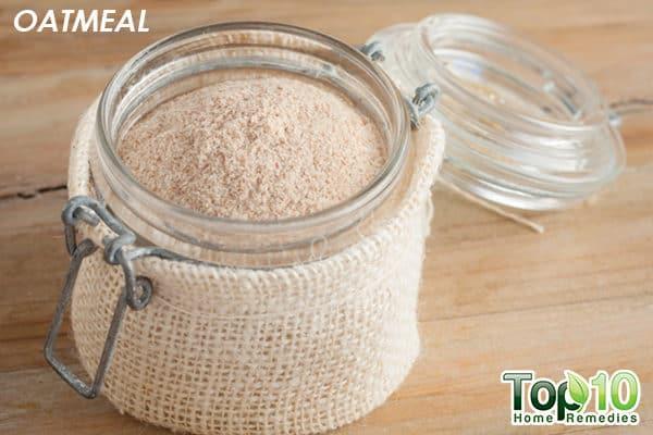 oatmeal bath to ease xerosis