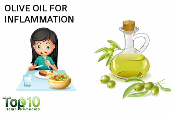 olive oil to trear inflammation