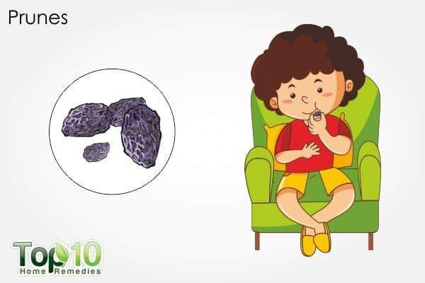 prunes to treat child constipation