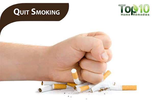 quit smoking to remove darkness in upper lip