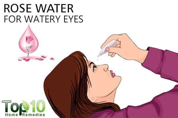rose water to soothe watery eyes