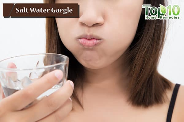 salt water gargle for dry cough