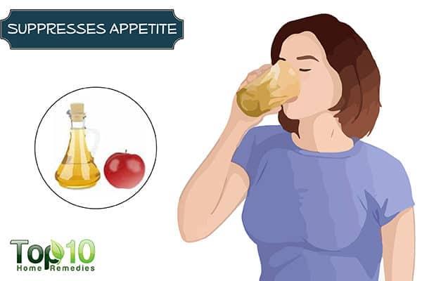 apple cider vinegar suppresses appetite