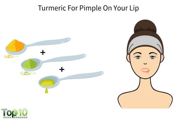 how to get rid of pimple under lip