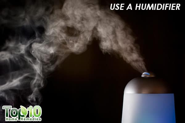 use a humidifier to reduce xerosis