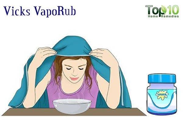 vicks vaporub to drain sinuses
