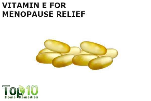vitamin E for menopausal relief