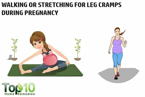 walking or stretching to reduce pregnancy leg cramps