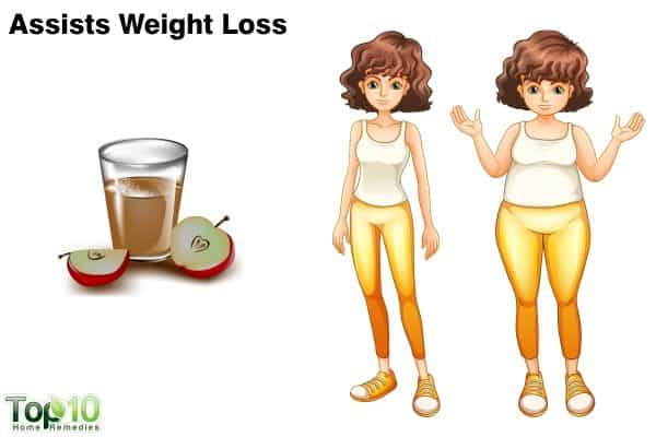 apple cider vinegar aids weight loss