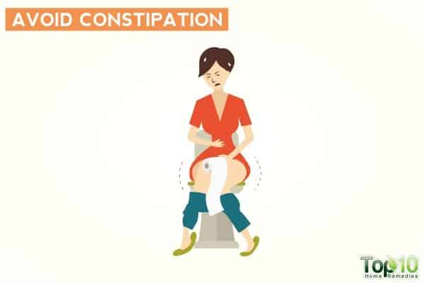 avoid constipation to prevent frequent urination