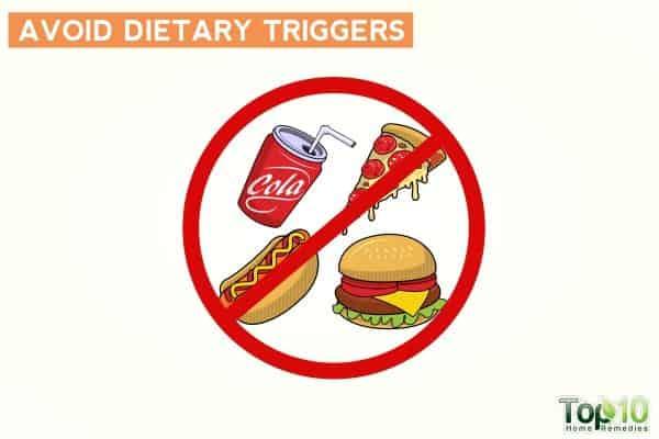 избегать диетических триггеров, чтобы избежать частого мочеиспускания