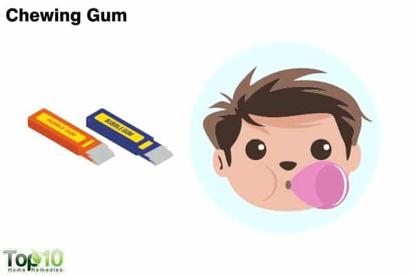 chewing gum for children with sore throat
