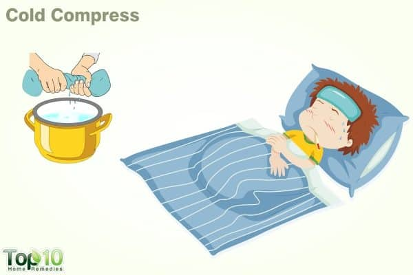 cold compress to bring down fever in children