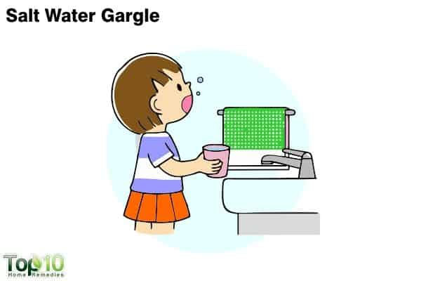 salt water gatgle for kids with sore throat