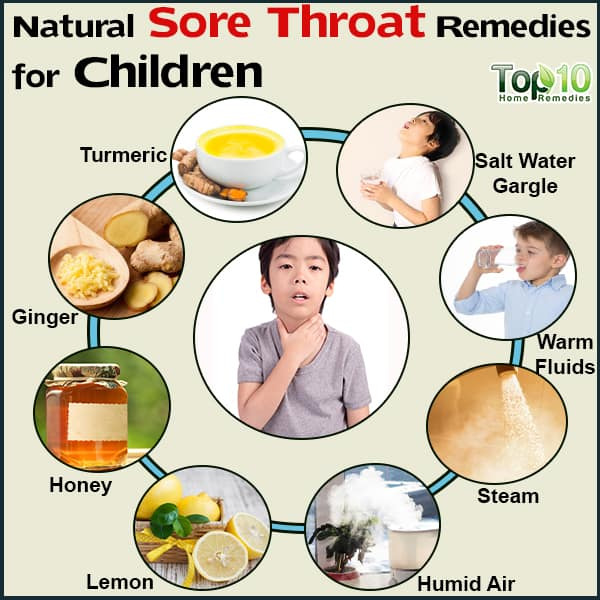 natural sore throat remedies for children