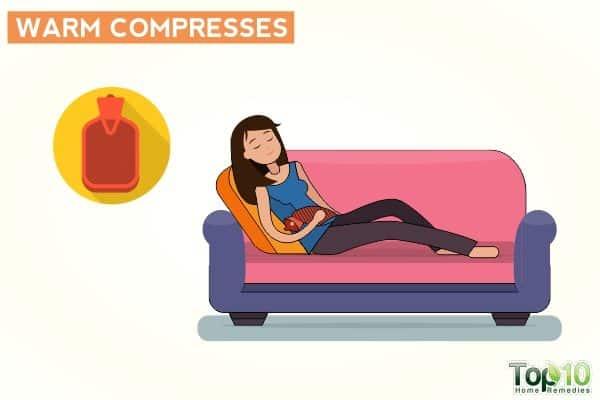 теплый компресс, чтобы уменьшить частое мочеиспускание