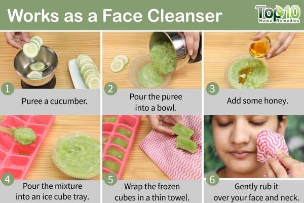 ice cubes as face cleanser