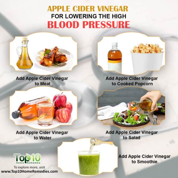 apple cider vinegar to lower high blood blood pressure