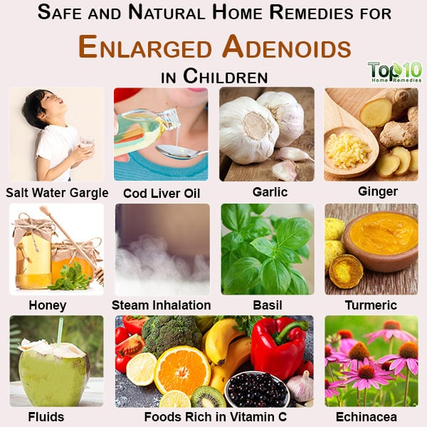 Home remedies for enlarged adenoids in children