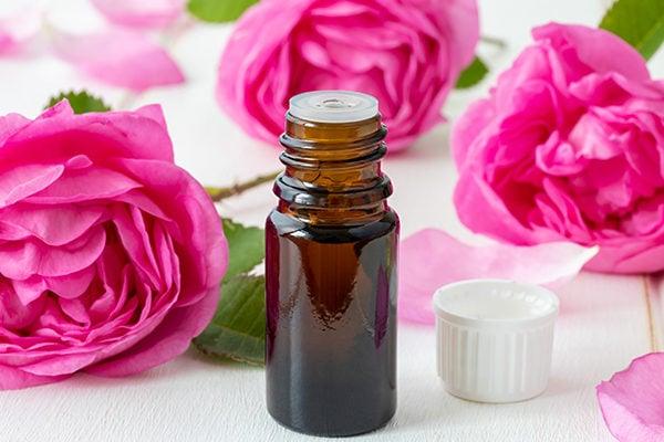 Rose essential oil to fight wrinkles and signs of aging