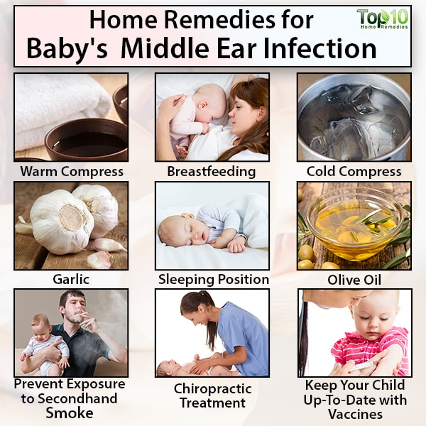 baby's middle ear infection home remedies