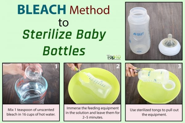 baby bottle bleach sterilization