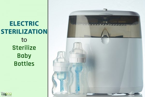 electric sterilization of baby bottle