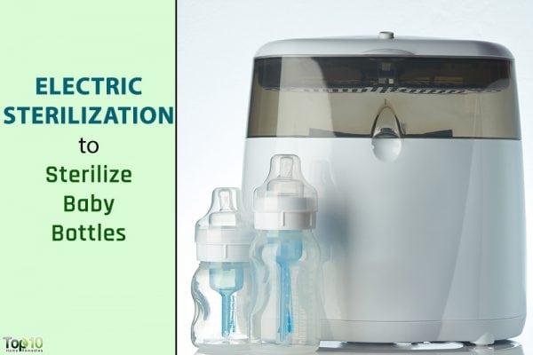 electric sterilization of baby bottle